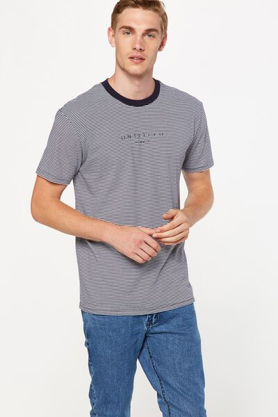 Dylan Tee, INK NAVY/WHITE STRIPE/UNTITLED NO.1