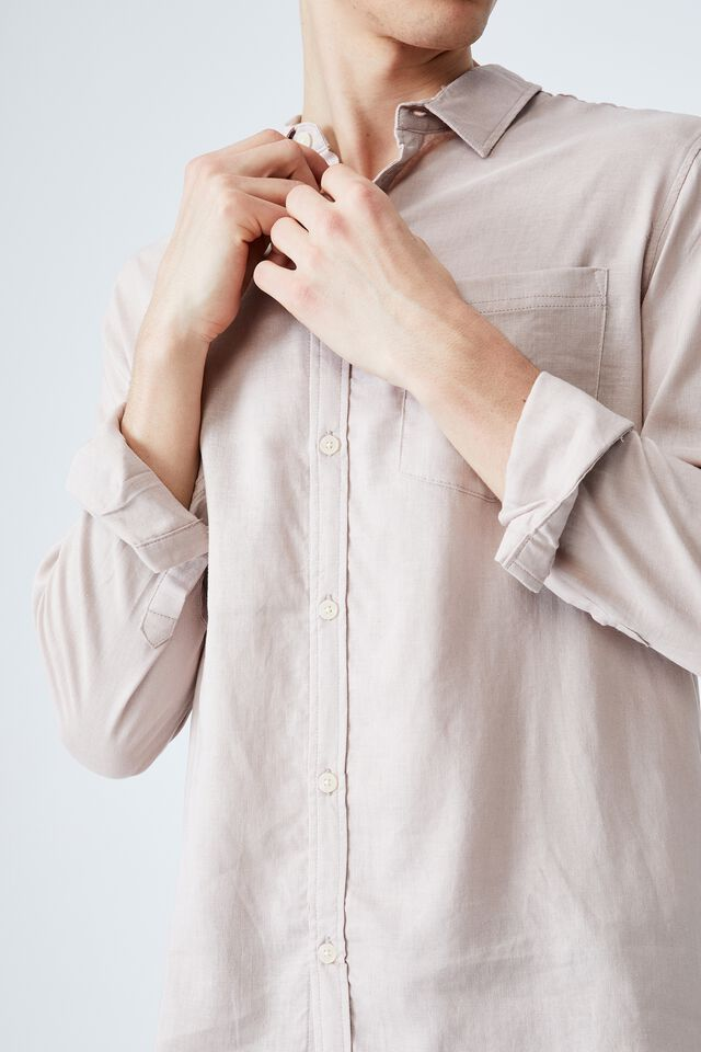 Ashby Long Sleeve Shirt, DUSTY BLOSSOM