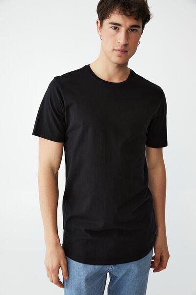 Organic Longline T-Shirt, BLACK