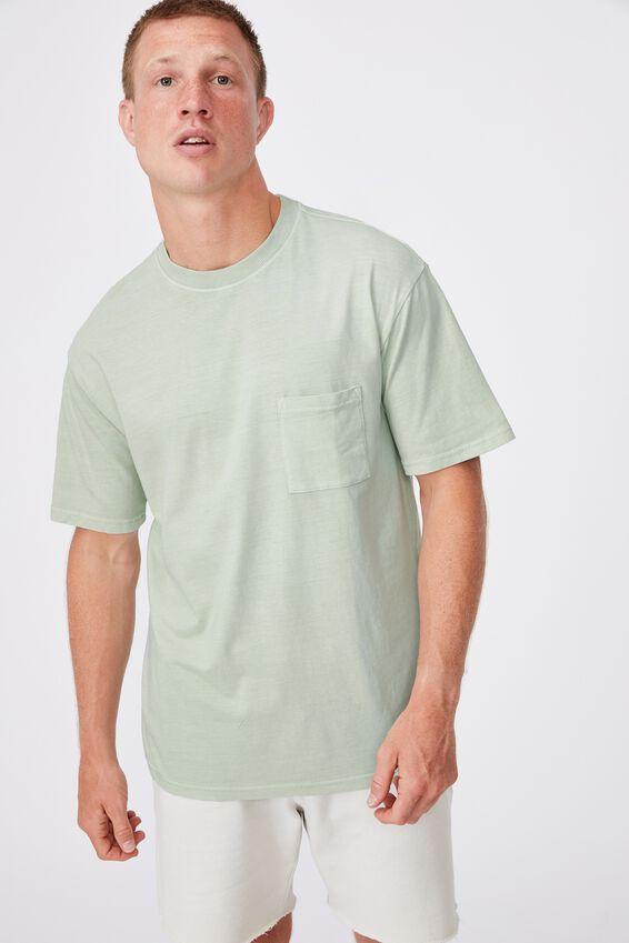 Washed Pocket T-Shirt, PISTACHIO