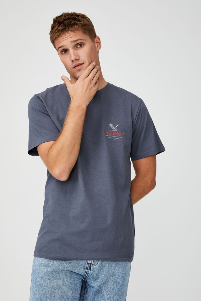 Tbar Moto T-Shirt, DUSTY DENIM/HIGHTAIL CO