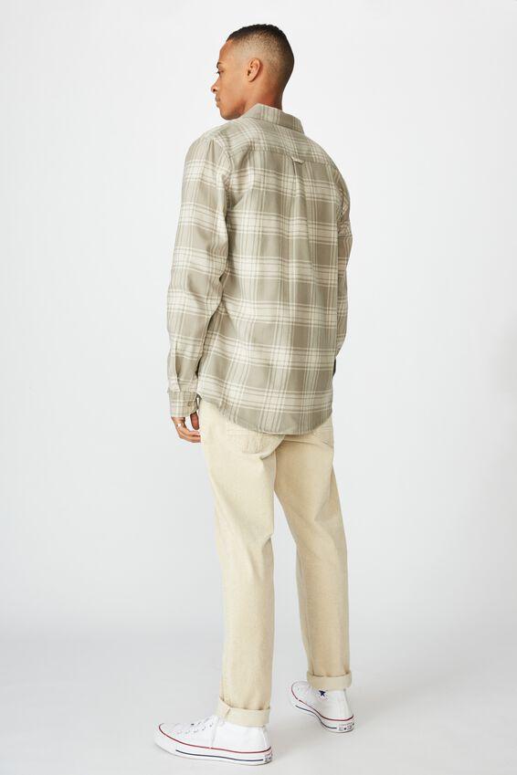 Rugged Long Sleeve Shirt, GREY ECRU CHECK