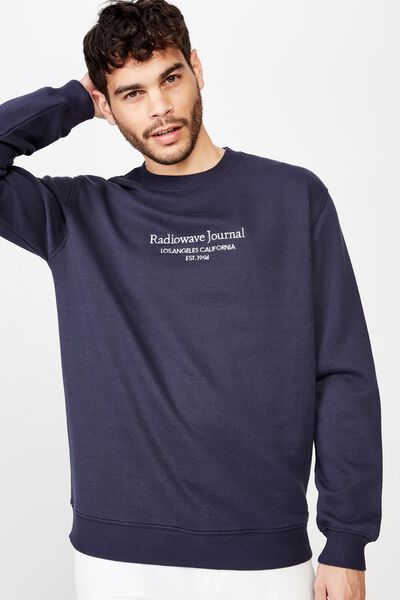Crew Fleece 2, TRUE NAVY/RADIOWAVE EST 1994