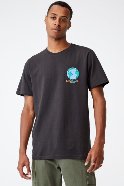 Tbar Art T-Shirt, WASHED BLACK/COOL IT