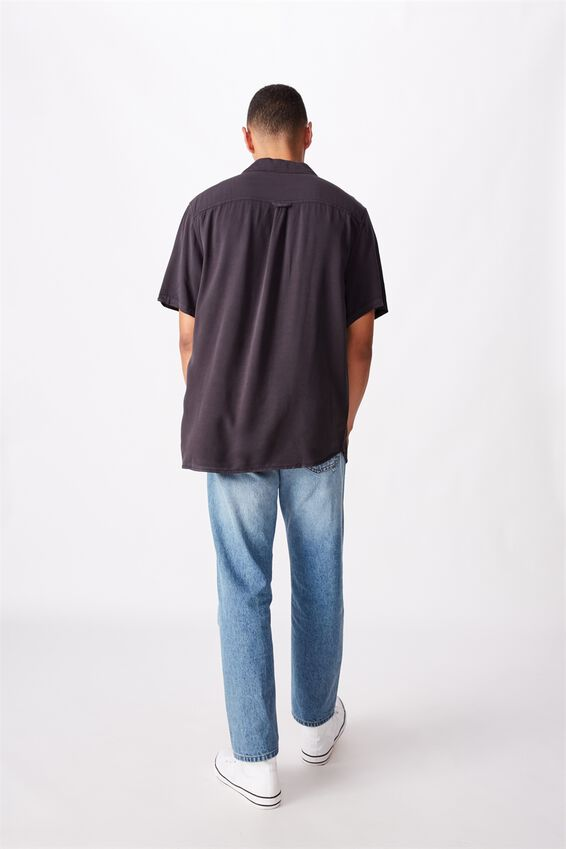 91 Short Sleeve Shirt, WASHED BLACK