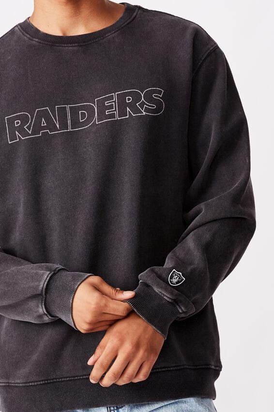 Premium Collab Crew Fleece, LCN NFL BLACK/LARGE RAIDERS