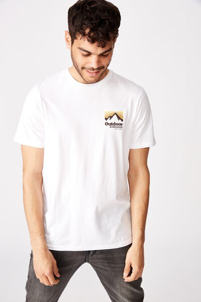 Tbar Souvenir T-Shirt, WHITE/OUTDOOR ENTHUSIAST SUPPLY