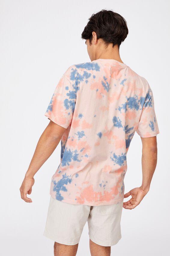 Festival T-Shirt, PEACH BLUE TIE DYE