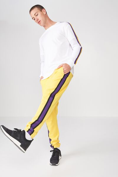 Classic Track Jogger, SAFETY YELLOW/BLACK & PURPLE TAPING
