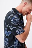 Short Sleeve Resort Shirt, INDIGO ORCHID