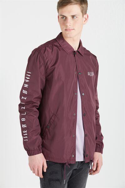 Coaches Jacket, BURGUNDY