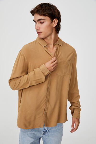 Cayman Long Sleeve Shirt, CAMEL