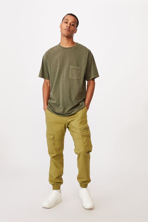 Washed Pocket T-Shirt, WASHED KHAKI