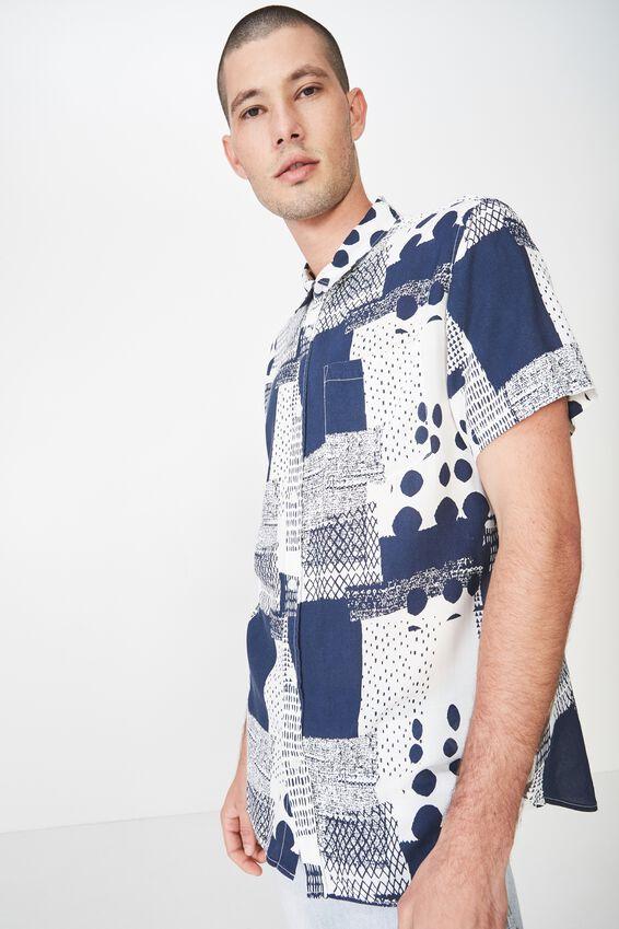 91 Short Sleeve Shirt, SCATTERED TRIBAL