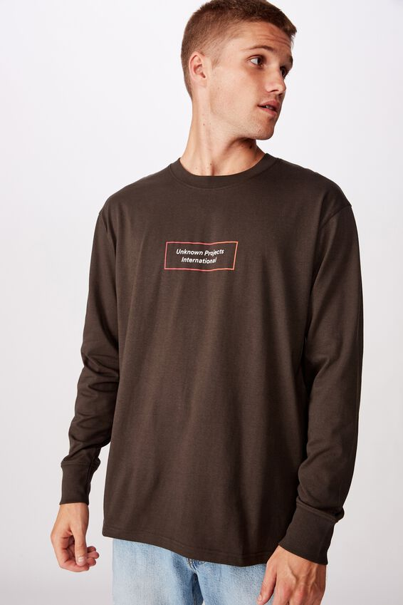 Tbar Long Sleeve, WASHED BLACK/UNKNOWN PROJECTS FADE