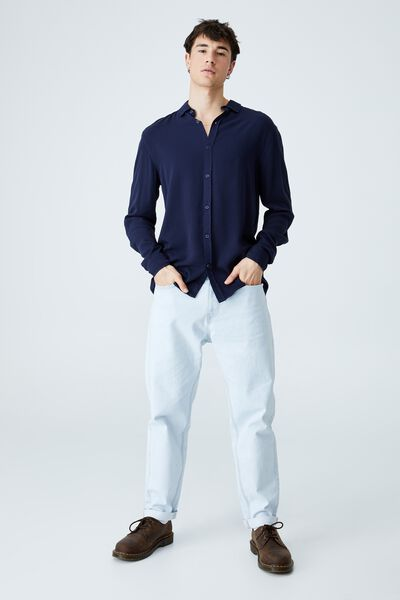 Cayman Long Sleeve Shirt, NAVY