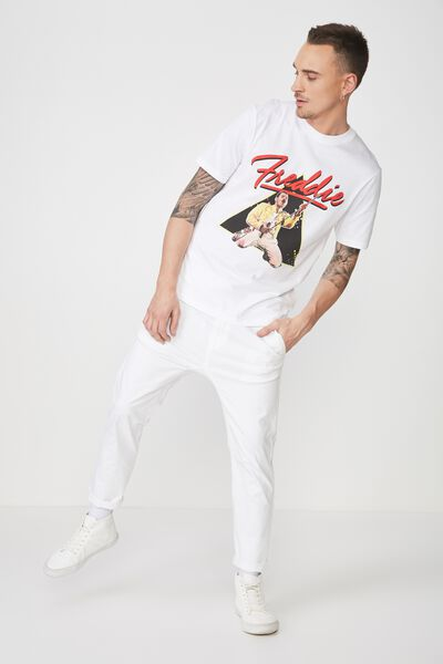 Tbar Collaboration Tee, LC WHITE/FREDDIE