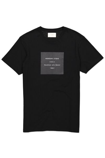Tbar Tee, BLACK/WEEKDAYS STUDIO