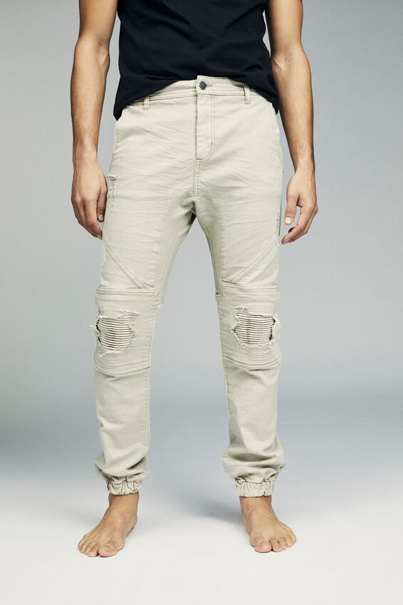 Slim Denim Jogger, BONE RIPPED MOTO