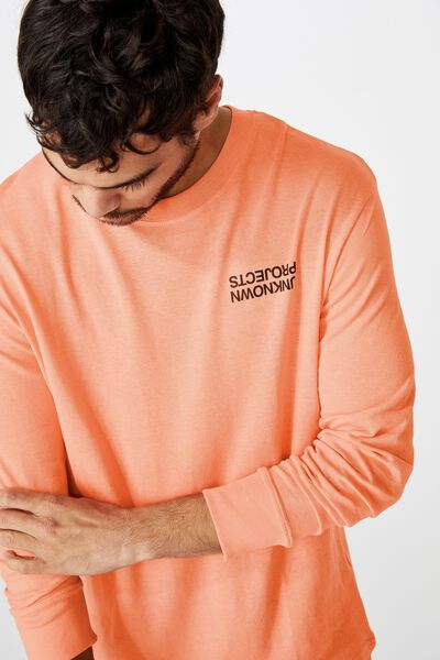 Tbar Long Sleeve, WASHED PINK/UNKNOWN PROJECTS CHEST