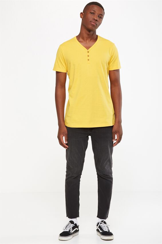 Essential Henley, SAFETY YELLOW
