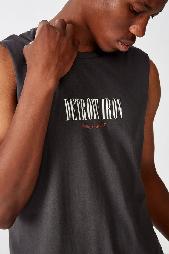 Tbar Muscle, FADED SLATE/DETROIT IRON