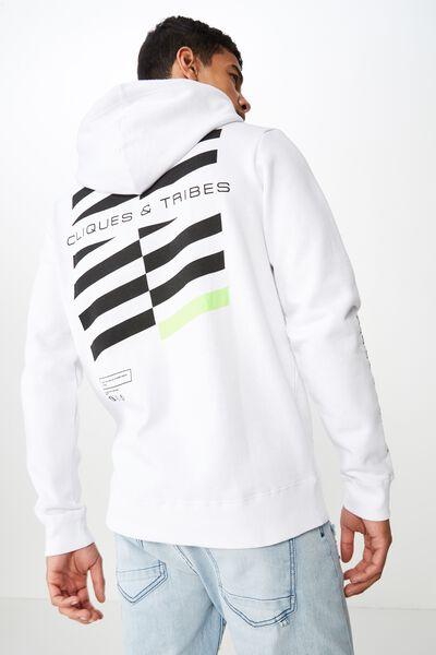 Fleece Pullover 2, WHITE/CLIQUES HAZARD