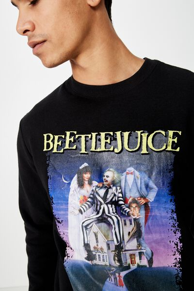 Collab Crew Fleece, LCN WB BLACK/BEETLEJUICE