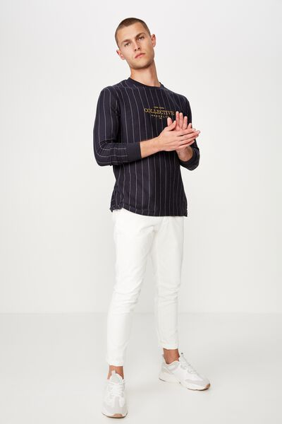 Downtown Long Sleeve, INK NAVY/WHITE/NY COLLECTIVE