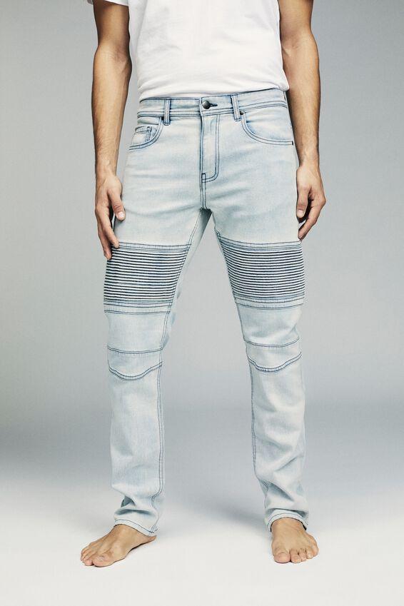 Slim Fit Jean, SLAYER BLUE MOTO