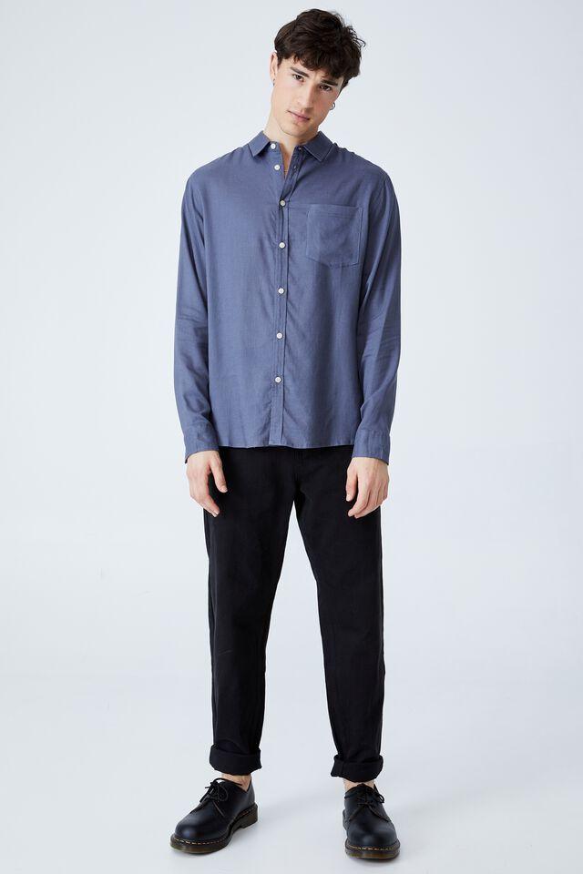 Ashby Long Sleeve Shirt, FADED INDIGO