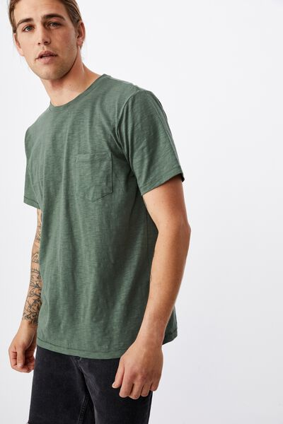 Slub Crew T-Shirt, FOREST