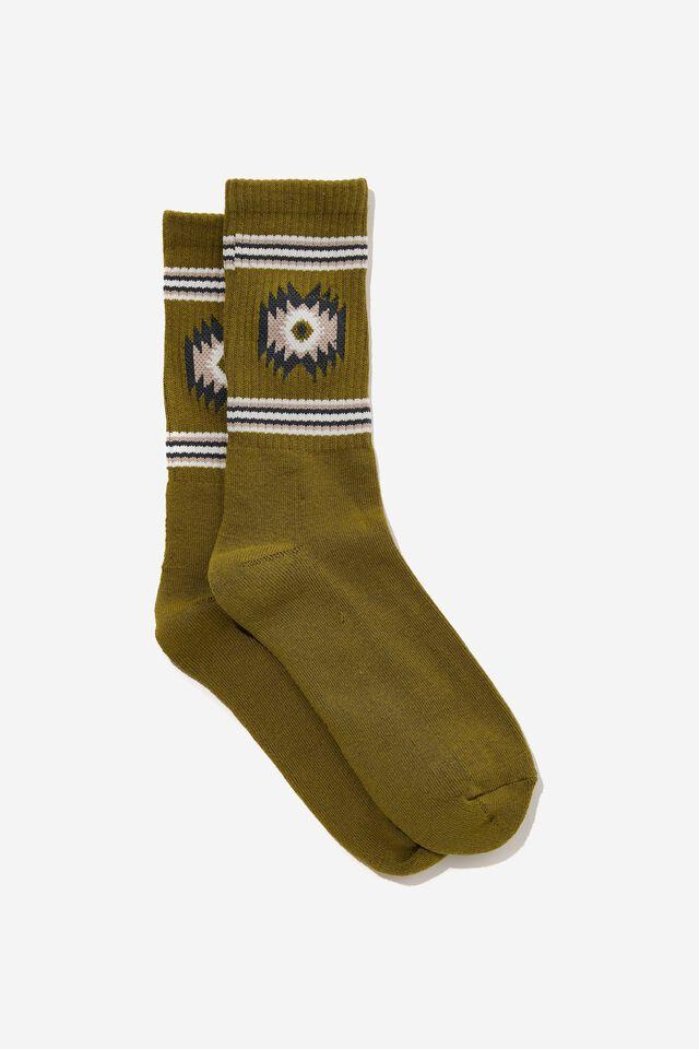 Essential Active Sock, SAGE/BROWN IKAT