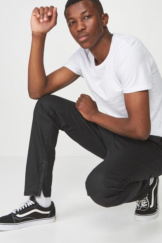 Slim Urban Zip Jean, COATED BLACK