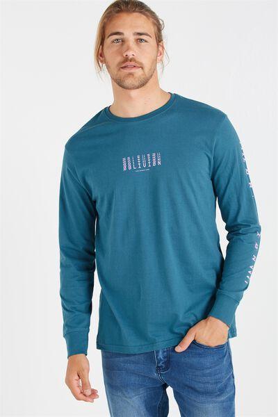 Tbar Long Sleeve, PETROL BLUE/OBLIVION