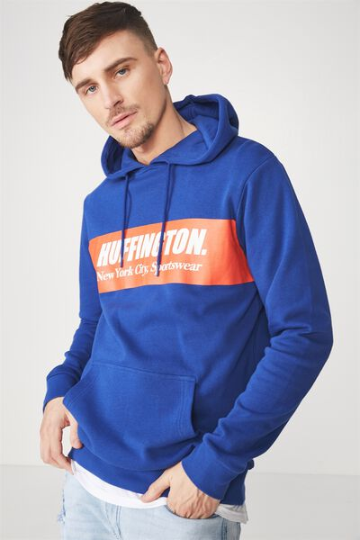 Fleece Pullover 2, ROYAL BLUE/HUFFINGTON