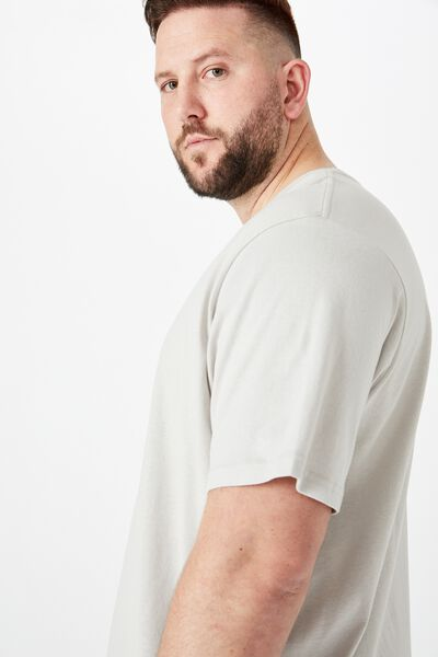 Bg Essential Longline Curved Hem, SMOKE