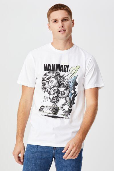Tbar Art T-Shirt, WHITE/DRAGON
