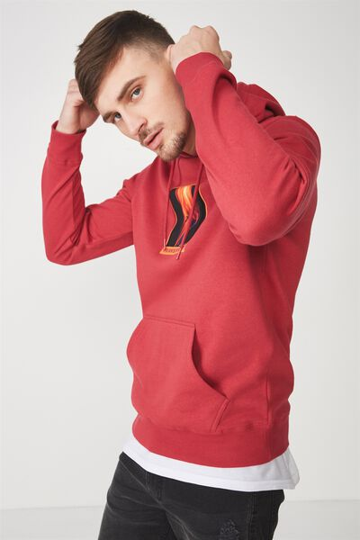 Fleece Pullover 2, PERSIAN RED/TRANSPARENT