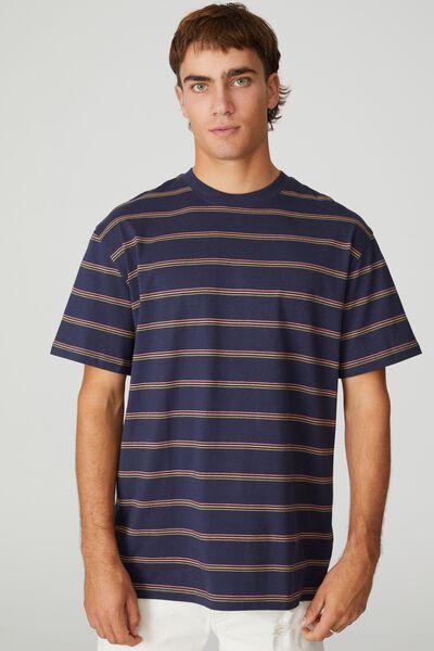 Dylan T-Shirt, TRUE NAVY TRIPLE STRIPE