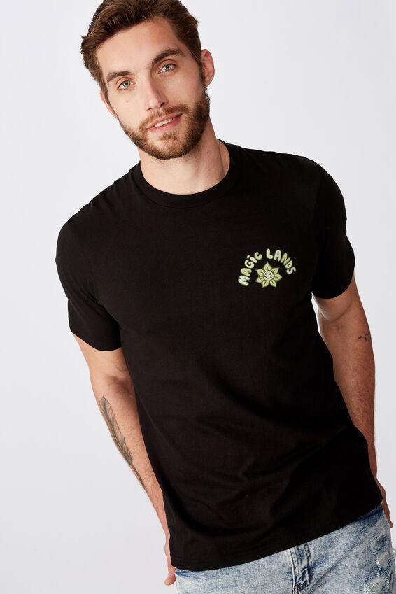 Tbar Art T-Shirt, SK8 BLACK/UFO MAGIC LANDS
