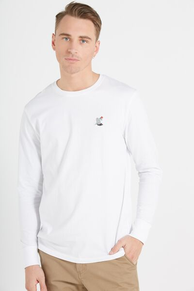 Tbar Long Sleeve, WHITE/WING AND A PRAYER