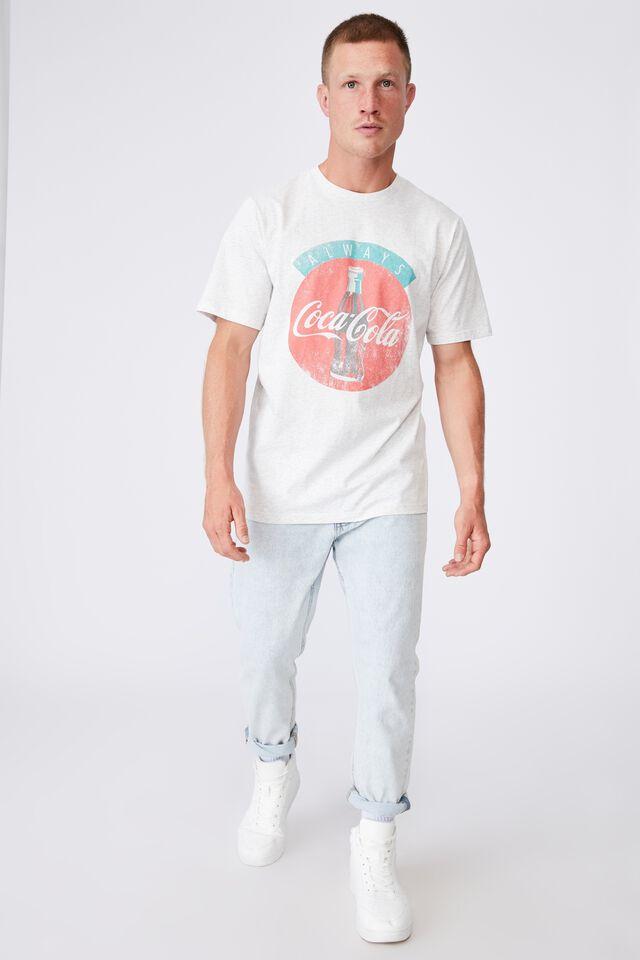Tbar Collab Pop Culture T-Shirt, LCN CC WHITE MARLE/COCA COLA-ALWAYS