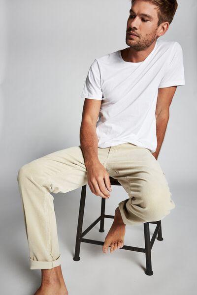 Tapered Leg Jean, BONE CORD