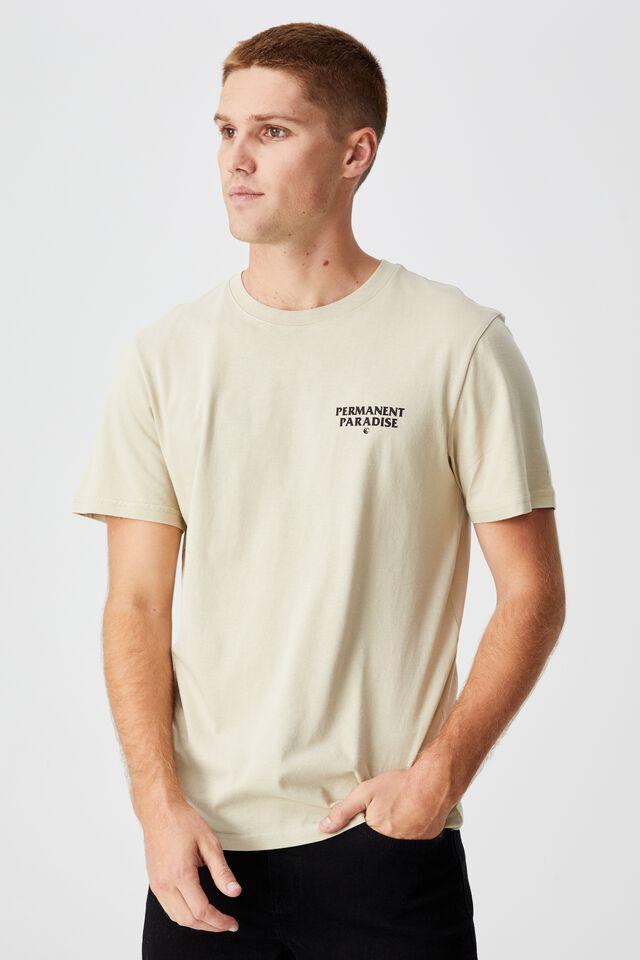 Tbar Moto T-Shirt, PALE SAND/SCORPION PARADISE