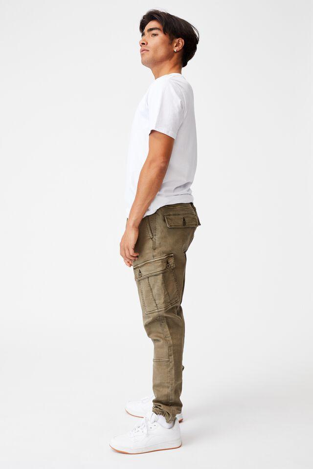 Military Cargo Pant, WASHED KHAKI