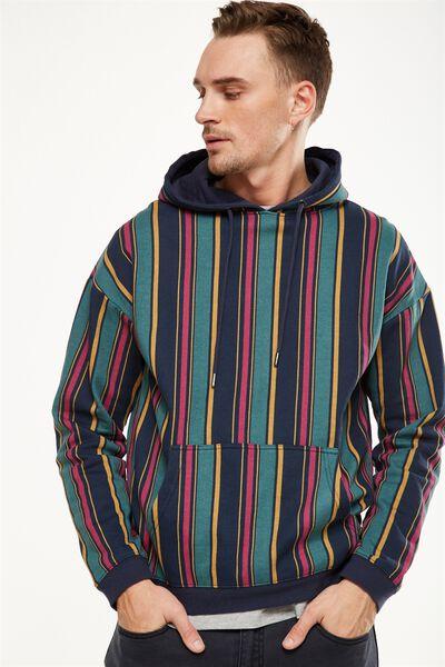 Drop Shoulder Pullover Fleece, INK NAVY/TREKKING GREEN/RASPBERRY NIGHT/CHIPMONK B