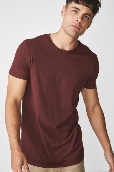 Essential Longline Curved Hem, WINDSOR WINE