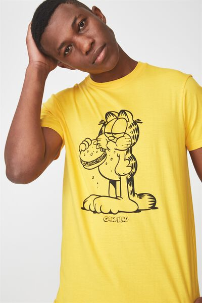 Tbar Collaboration Tee, LC SAFETY YELLOW/GARFIELD HUNGRY