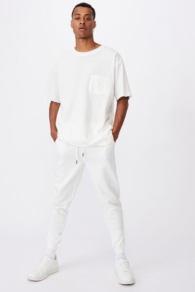 Trippy Slim Trackie, WHITE